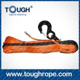 4X4 Winch Dyneema Synthetic 4X4 Winch Rope avec crochet Doublure en paquet emballée comme ensemble complet