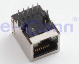 Jaques modulares magnético de porta única, RJ 45,