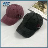 Gorra de béisbol ajustable lavada alta calidad del color sólido del algodón
