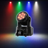 Mini LED indicatore luminoso capo mobile della lavata LED del professionista 7PCS*10W