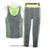 Terno da ioga das mulheres do desgaste da aptidão das calças justas da compressão da forma de Whosale