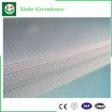 Multi Span Polytunnel Industrial de policarbonato plástico de invernadero de cristal
