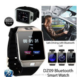 Wearable Slimme Telefoon van het Horloge met Bluetooth en Camera 2m (DZ09)