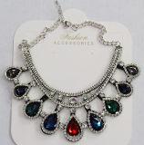 Halsband van de Tegenhanger van het Kristal van het Glas Waterdrop van de Juwelen van de Manier van de vrouw de Blauwe (JE0210)