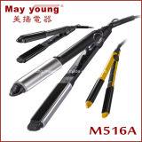 M516 con plancha de cabello enderezar y Rizo 2 en el diseño de la placa 1