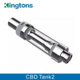 Tank 2 van het Glas van de Nieuwe Producten van Kingtons Hete Ceramische de Verstuiver van de Olie Cbd