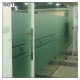 acide inférieur de fer de 10mm repéré \ portes givrées de partition de bureau en verre