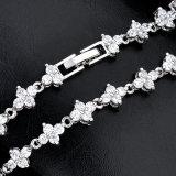 Pendiente pendiente de la última manera blanca del Zircon Wedding el conjunto nupcial de la joyería