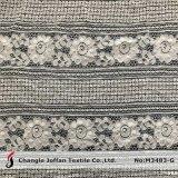 Bordados de tecido de renda de algodão de moda para acessórios de vestuário (M3483-G)
