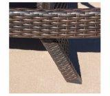 3-stuk Rieten Regelbare Chaise van het Terras Zitkamer die met Kussens wordt geplaatst