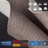 Couro de PVC para sofá de couro artificial em relevo