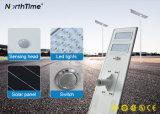 Integra todo-en-uno la iluminación exterior LED de Energía Solar de la luz de la calle/carretera