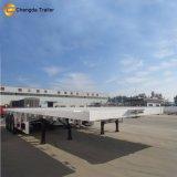 3 Plattform-Schlussteil-LKW der Wellen-40feet flacher für Behälter-Verbrauch