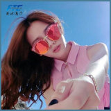 Lunettes en métal en verre de Sun de cru de lunettes de soleil de femmes