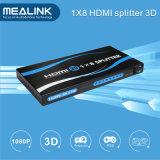 Горячие сбывания 1X8 1 в Splitter 8 вне HDMI (1080P, 3D)