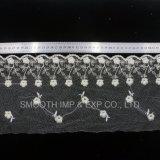 Tessile netta accessoria della decorazione del tessuto del merletto del ricamo del filato dell'indumento di modo
