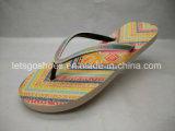 De Wipschakelaar van de Schoenen van het Sandelhout van de Pantoffels PE/PVC/TPR/EVA van het strand (22FL908)