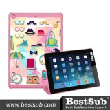 Bestsub a personnalisé la caisse magnétique de sublimation de tablette de chiquenaude pour l'air d'iPad (IPD22P)