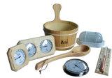 Cubo de madera y cuchara de Sauna Accesorios