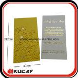 Kundenspezifisches Drucken-Luxuxhochzeits-Karten-Laser-Schnitt-Einladungs-Karte