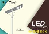 Controlo de todos os aplicativos do smartphone multifuncional 120W Luz Rua solar integrada