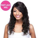 Das Teil-mittleres Haar-natürliches Farben-Karosserien-Wellen-Schliessen-Haar-brasilianische Jungfrau-Haar-Webart-Menschenhaar