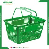 32L Double Handle Plastic Shopping Basket para supermercado