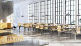 4seater Fast Food Restaurant Furniture Dining Table와 Chair