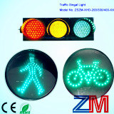 200/300/400mm LEDの明確なレンズが付いている点滅の手段の信号
