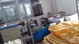 Stapel 11mm de geel-wit-Groene Dekking van de Rol van de Polyester van de Lijn