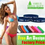 Alta Qualidade promocionais Eco- bracelete de silicone para homens de Aço Inoxidável