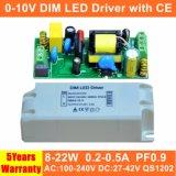 fuente de alimentación de 8-22W 0-10V Dimmable LED con Ce 5 años de garantía QS1202