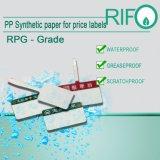 BOPP Syntheic papier imperméable pour les boissons/enrouler autour de l'étiquette de l'eau