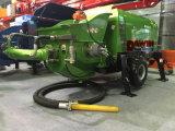 Pompe de pulvérisation concrète humide avec le travail de boyau en caoutchouc de 32m avec le compresseur d'air