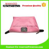 Kundenspezifische Form-Dame Pink Polyester Cosmetic Bag mit Reißverschluss-Schliessen