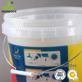 20L Clear Transparent Printed Plastic Pail con Clear Lid