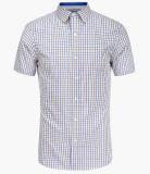 [منس] صبغ مغزول تدقيق قصيرة كم قميص
