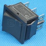 Negro encendido en el interruptor de eje de balancín de 6 pernos
