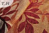 2016のアメリカハナノキの葉パターンシュニールのジャカード家具ファブリック