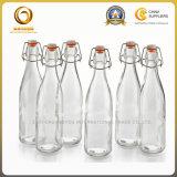 1000ml de vierkante Fles van het Water van het Glas van de Schommeling Hoogste (706)