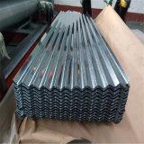 tôle d'acier ondulée galvanisée enduite d'une première couche de peinture par feuille de matériau de 0.13mm-2mm