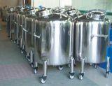 Aseptisches Lebensmittelklassenbecken-gesundheitlicher Sammelbehälter mit 4 Rädern