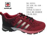 Красный цвет мужской обуви Flyknit спорта запаса обувь