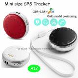 Mini/minuscule traqueur pendant principal de la forme GPS de bouton avec les Multi-Fonctions A12