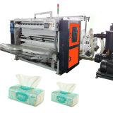 Máquina plegable que graba del tejido de papel de la servilleta