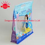 Saco da embalagem para o alimento de animal de estimação/o saco de plástico parte inferior lisa