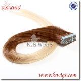 Extensão superior do cabelo humano do Virgin da classe, cabelo do brasileiro de Remy