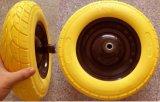 4.00-8 Estándar europeo libre plana continua de las ruedas de espuma PU