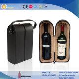 Kundenspezifische Flaschen des PU-lederne Wein-2, die Ablagekasten (3396, tragen)