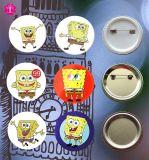 40 divisa inferior del botón de la insignia de la impresión del papel del hierro 4c